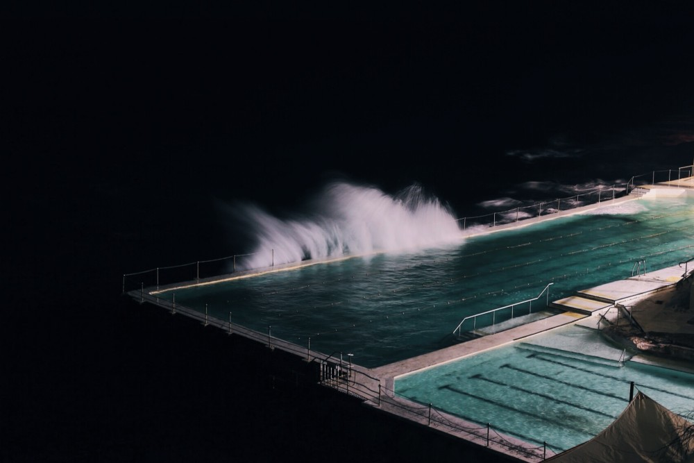 Public Domain Images - Pool Night Ocean Wind Water Turquoise