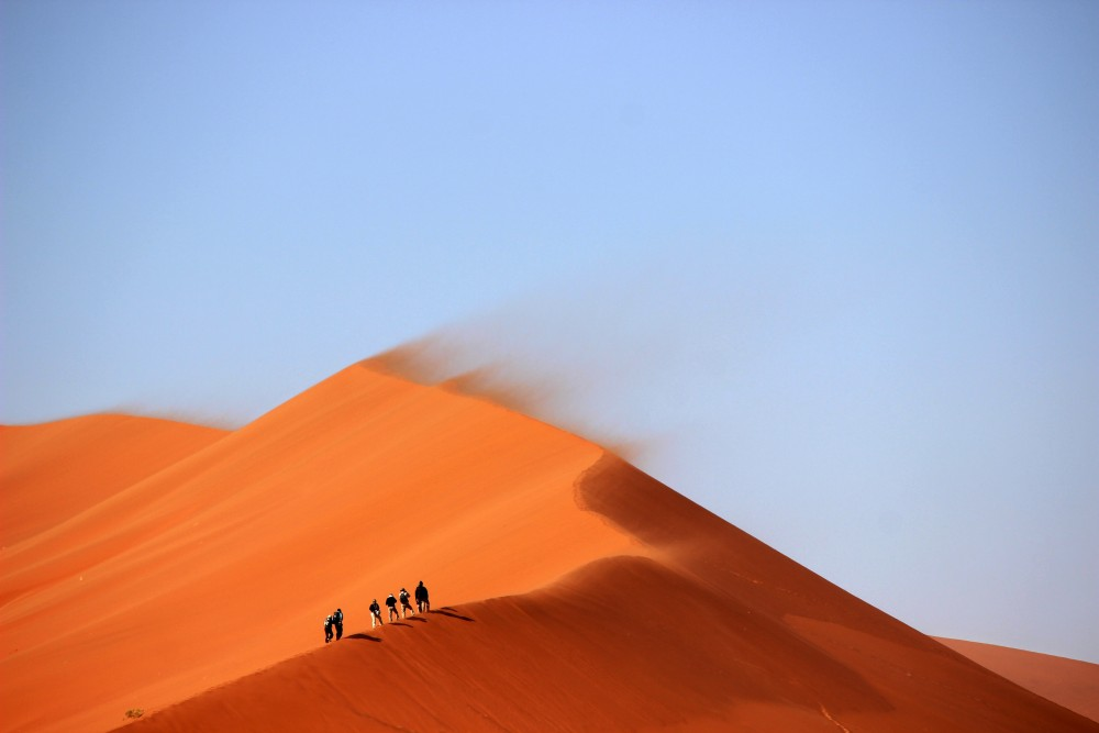 Public Domain Images – Desert Sand Dune Orange Blue Sky