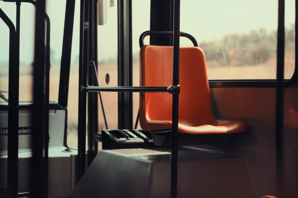 Public Domain Images Orange Seat Bus Public Transit Poles MTA Transportation