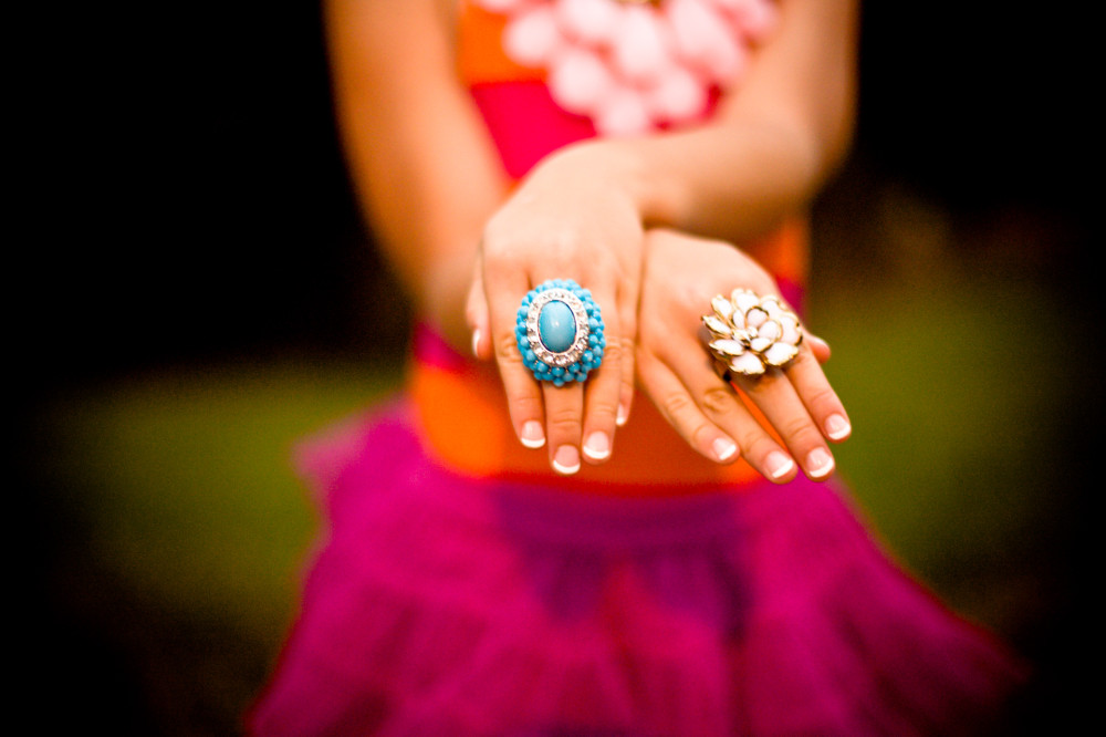 Public Domain Images – Girl Tutu Pink Orange Turquoise Rings Hands