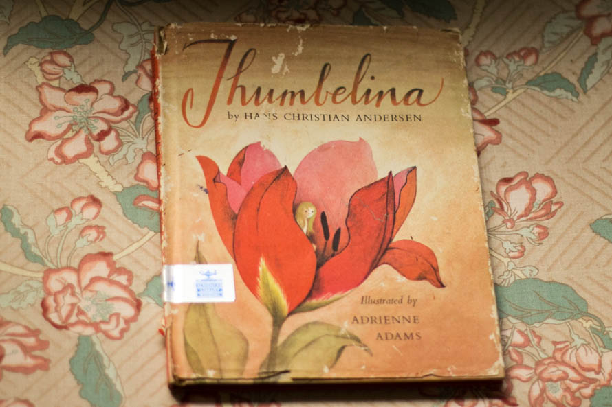 Public Domain Images- Vintage Book Children's Thumbelina Illustrations