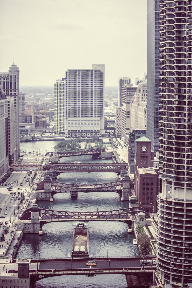Public Domain Images Wacker Drive Downtown Chicago River