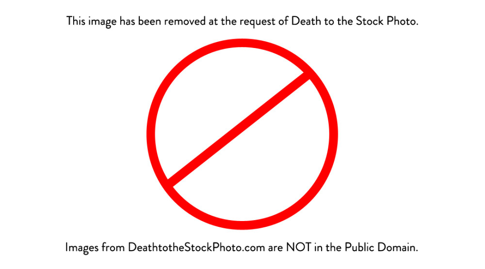 Death to the Stock Photo in not public domain.