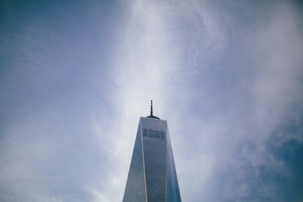 Public Domain Images – 1 World Trade Center WTC Sky Scraper Blue Sky Architecture